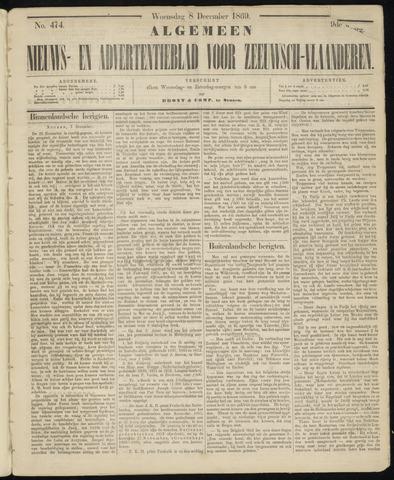 Ter Neuzensche Courant. Algemeen Nieuws- en Advertentieblad voor Zeeuwsch-Vlaanderen / Neuzensche Courant ... (idem) / (Algemeen) nieuws en advertentieblad voor Zeeuwsch-Vlaanderen 1869-12-08