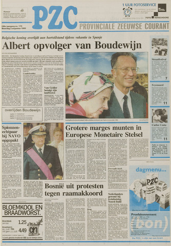 Provinciale Zeeuwse Courant 1993-08-02