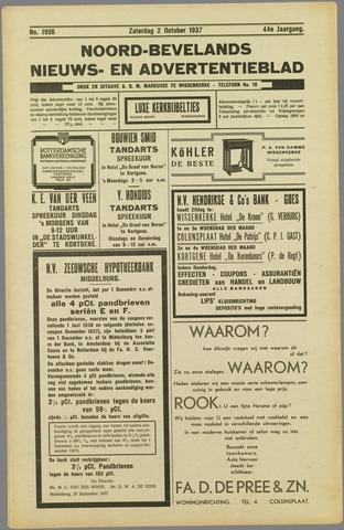 Noord-Bevelands Nieuws- en advertentieblad 1937-10-02