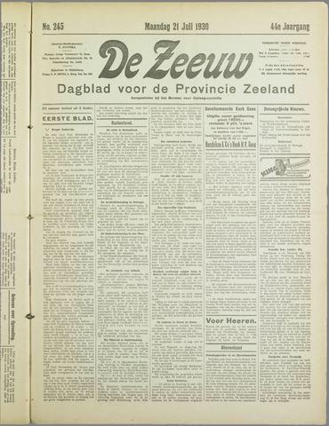 De Zeeuw. Christelijk-historisch nieuwsblad voor Zeeland 1930-07-21