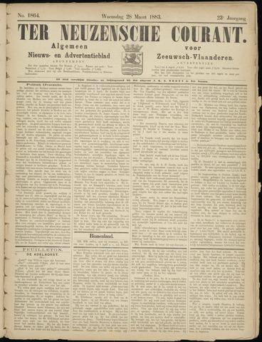 Ter Neuzensche Courant. Algemeen Nieuws- en Advertentieblad voor Zeeuwsch-Vlaanderen / Neuzensche Courant ... (idem) / (Algemeen) nieuws en advertentieblad voor Zeeuwsch-Vlaanderen 1883-03-28