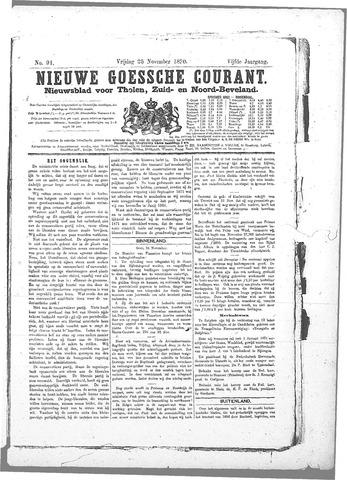 Nieuwe Goessche Courant 1870-11-25