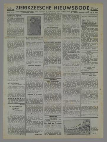 Zierikzeesche Nieuwsbode 1944-02-07