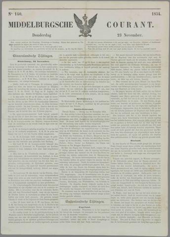 Middelburgsche Courant 1854-11-23