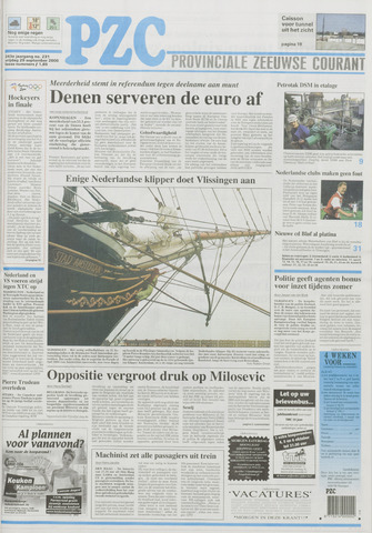 Provinciale Zeeuwse Courant 2000-09-29
