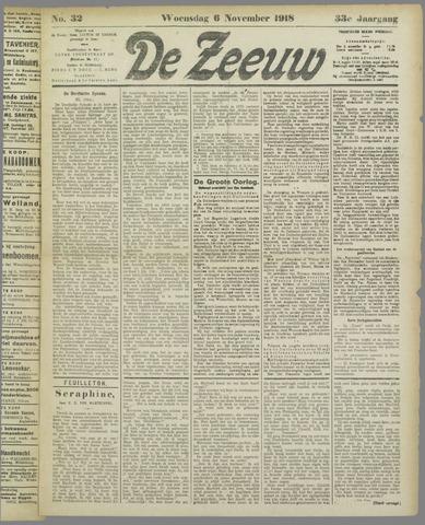 De Zeeuw. Christelijk-historisch nieuwsblad voor Zeeland 1918-11-06