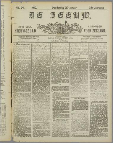 De Zeeuw. Christelijk-historisch nieuwsblad voor Zeeland 1910-01-20