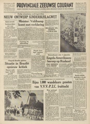 Provinciale Zeeuwse Courant 1961-09-04