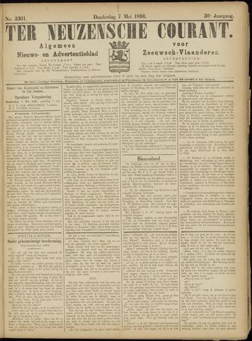 Ter Neuzensche Courant. Algemeen Nieuws- en Advertentieblad voor Zeeuwsch-Vlaanderen / Neuzensche Courant ... (idem) / (Algemeen) nieuws en advertentieblad voor Zeeuwsch-Vlaanderen 1896-05-07
