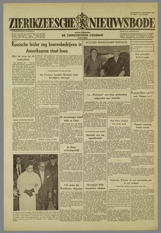 Zierikzeesche Nieuwsbode 1959-09-24