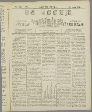 De Zeeuw. Christelijk-historisch nieuwsblad voor Zeeland 1912-07-20