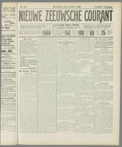 Nieuwe Zeeuwsche Courant 1916-12-21