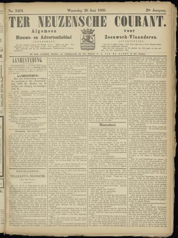 Ter Neuzensche Courant. Algemeen Nieuws- en Advertentieblad voor Zeeuwsch-Vlaanderen / Neuzensche Courant ... (idem) / (Algemeen) nieuws en advertentieblad voor Zeeuwsch-Vlaanderen 1888-06-20