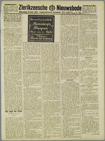 Zierikzeesche Nieuwsbode 1924-09-10