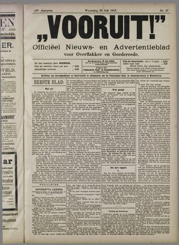 """""""Vooruit!""""Officieel Nieuws- en Advertentieblad voor Overflakkee en Goedereede 1913-07-30"""