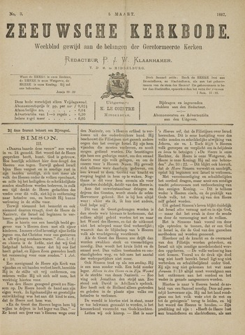 Zeeuwsche kerkbode, weekblad gewijd aan de belangen der gereformeerde kerken/ Zeeuwsch kerkblad 1887-03-05