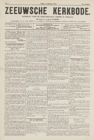 Zeeuwsche kerkbode, weekblad gewijd aan de belangen der gereformeerde kerken/ Zeeuwsch kerkblad 1936-02-14