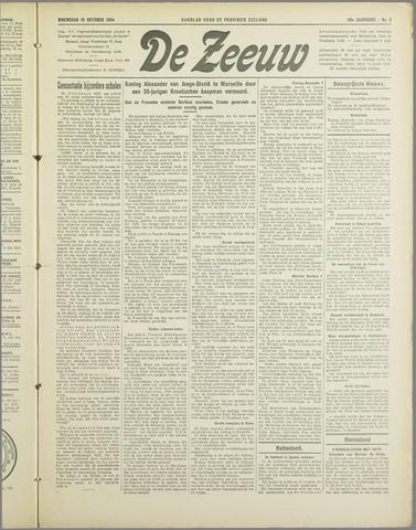 De Zeeuw. Christelijk-historisch nieuwsblad voor Zeeland 1934-10-10