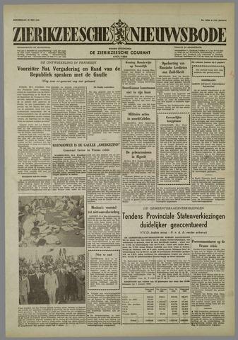 Zierikzeesche Nieuwsbode 1958-05-29