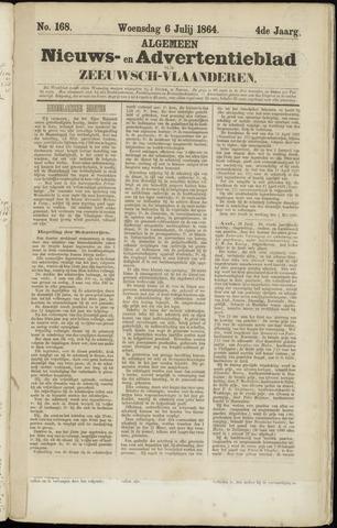 Ter Neuzensche Courant. Algemeen Nieuws- en Advertentieblad voor Zeeuwsch-Vlaanderen / Neuzensche Courant ... (idem) / (Algemeen) nieuws en advertentieblad voor Zeeuwsch-Vlaanderen 1864-07-06