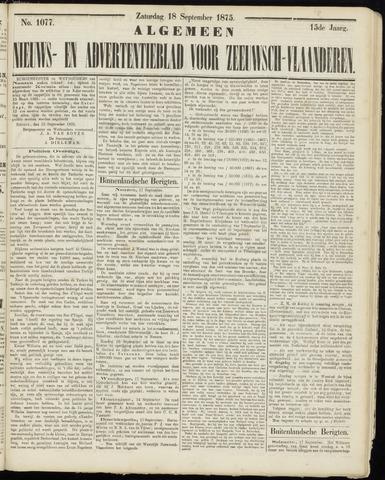 Ter Neuzensche Courant. Algemeen Nieuws- en Advertentieblad voor Zeeuwsch-Vlaanderen / Neuzensche Courant ... (idem) / (Algemeen) nieuws en advertentieblad voor Zeeuwsch-Vlaanderen 1875-09-18