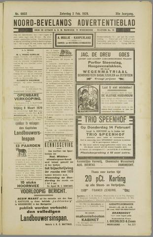 Noord-Bevelands Nieuws- en advertentieblad 1929-02-02