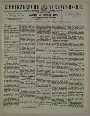 Zierikzeesche Nieuwsbode 1903-12-05