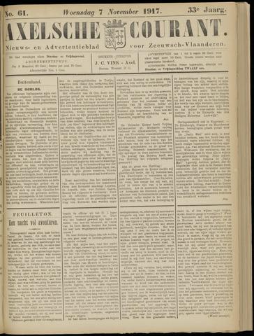 Axelsche Courant 1917-11-07