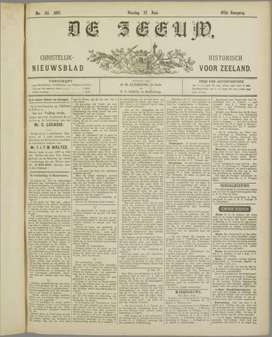 De Zeeuw. Christelijk-historisch nieuwsblad voor Zeeland 1897-06-22