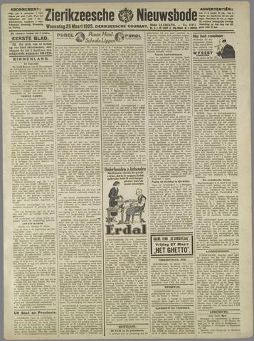 Zierikzeesche Nieuwsbode 1925-03-25