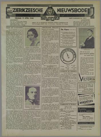 Zierikzeesche Nieuwsbode 1940-04-19