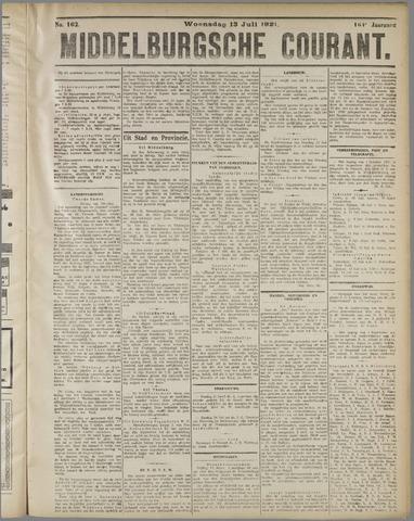 Middelburgsche Courant 1921-07-13