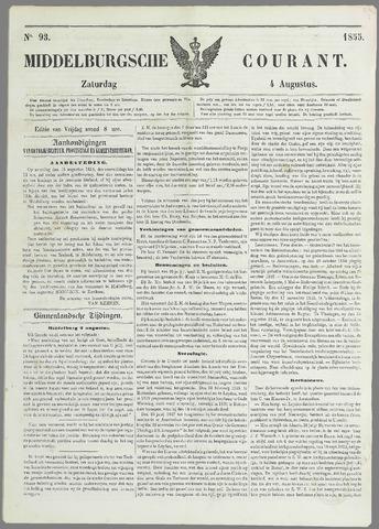 Middelburgsche Courant 1855-08-04