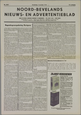 Noord-Bevelands Nieuws- en advertentieblad 1979-11-01