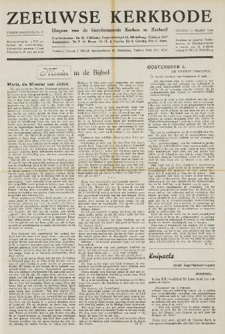 Zeeuwsche kerkbode, weekblad gewijd aan de belangen der gereformeerde kerken/ Zeeuwsch kerkblad 1949-03-11