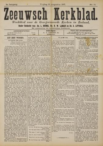 Zeeuwsche kerkbode, weekblad gewijd aan de belangen der gereformeerde kerken/ Zeeuwsch kerkblad 1907-08-30