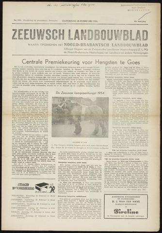 Zeeuwsch landbouwblad ... ZLM land- en tuinbouwblad 1954-02-20