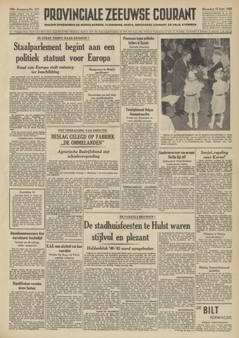 Provinciale Zeeuwse Courant 1952-09-15