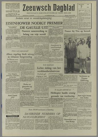 Zeeuwsch Dagblad 1958-07-07