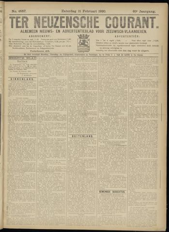 Ter Neuzensche Courant. Algemeen Nieuws- en Advertentieblad voor Zeeuwsch-Vlaanderen / Neuzensche Courant ... (idem) / (Algemeen) nieuws en advertentieblad voor Zeeuwsch-Vlaanderen 1920-02-21