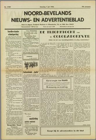 Noord-Bevelands Nieuws- en advertentieblad 1956-07-07
