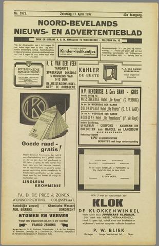 Noord-Bevelands Nieuws- en advertentieblad 1937-04-17