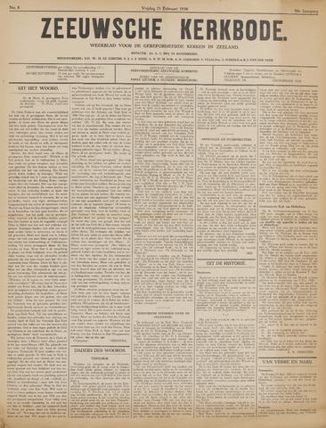 Zeeuwsche kerkbode, weekblad gewijd aan de belangen der gereformeerde kerken/ Zeeuwsch kerkblad 1936-02-21