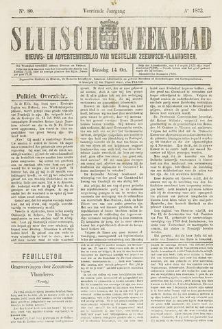 Sluisch Weekblad. Nieuws- en advertentieblad voor Westelijk Zeeuwsch-Vlaanderen 1873-10-14