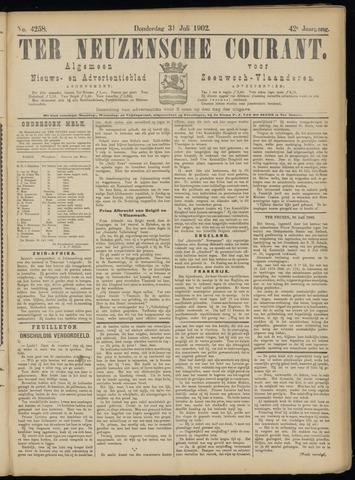 Ter Neuzensche Courant. Algemeen Nieuws- en Advertentieblad voor Zeeuwsch-Vlaanderen / Neuzensche Courant ... (idem) / (Algemeen) nieuws en advertentieblad voor Zeeuwsch-Vlaanderen 1902-07-31