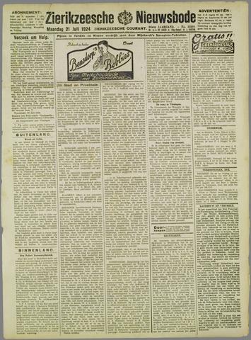 Zierikzeesche Nieuwsbode 1924-07-21