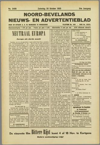 Noord-Bevelands Nieuws- en advertentieblad 1950-10-28