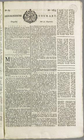 Zierikzeesche Courant 1814-08-30