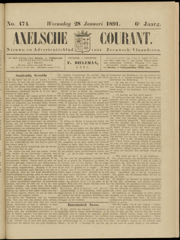 Axelsche Courant 1891-01-28