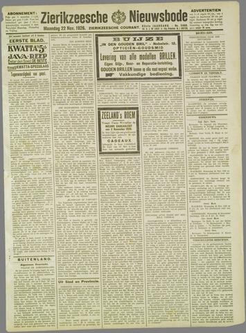 Zierikzeesche Nieuwsbode 1926-11-22